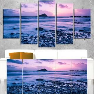 Slow Motion Waves on Rocky Beach - Modern Seascape Canvas Artwork