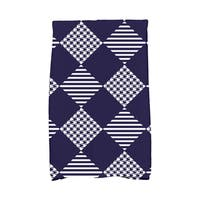 16 x 25-inch Check It Twice Holiday Geometric Print Kitchen Towel