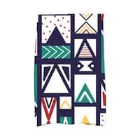 16 x 25-inch Merry Susan Holiday Geometric Print Kitchen Towel
