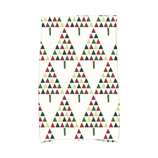 16 x 25-inch Triangle Trees 2 Holiday Geometric Print Kitchen Towel