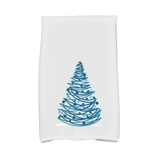 16 x 25-inch Oh Christmas Tree Holiday Geometric Print Kitchen Towel