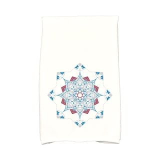 16 x 25-inch Snowflake Star Holiday Geometric Print Kitchen Towel