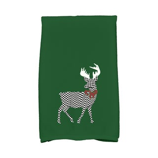 16 x 25-inch Merry Deer Holiday Animal Print Kitchen Towel