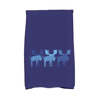 16 x 25-inch Merry Moose Holiday Animal Print Kitchen Towel