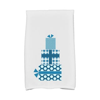 16 x 25-inch Gift Wrapped Holiday Geometric Print Kitchen Towel