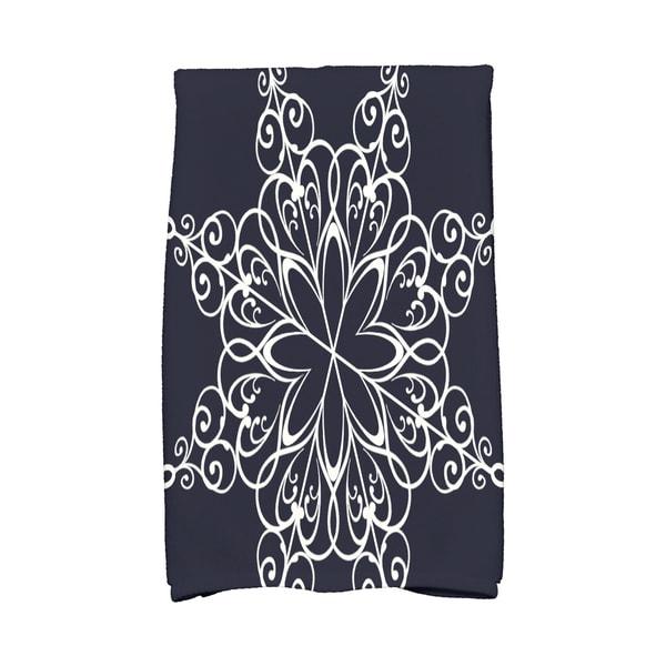 16 x 25-inch Snowflake Holiday Geometric Print Kitchen Towel