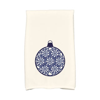 16 x 25-inch Snowflake Bulb Holiday Geometric Print Kitchen Towel