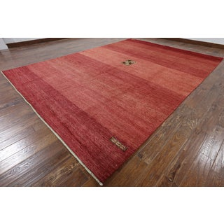 """Hand-Knotted Oriental Gabbeh Multi Wool Rug (9' 1"""" X 12' 7"""")"""