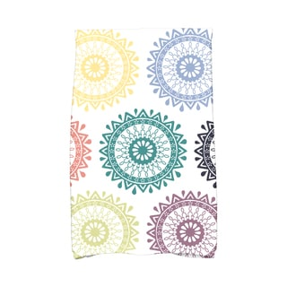 16 x 25-inch Groovy Geometric Print Kitchen Towel