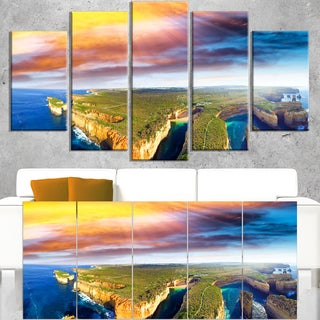 Aerial View of Great Ocean Road - Large Seascape Art Canvas Print