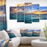 Tropical Beach at Sunset - Oversized Seashore Beach Canvas Art Print