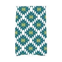 16 x 25-inch Jodhpur Kilim 2 Geometric Print Kitchen Towel