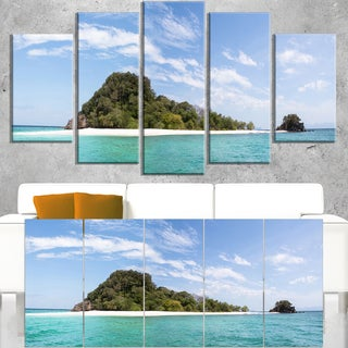 Blue Koh Khai Island Panorama - Large Seascape Art Canvas Print