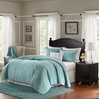 Bombay Taryn Blue Velvet 4-piece Quilt Set