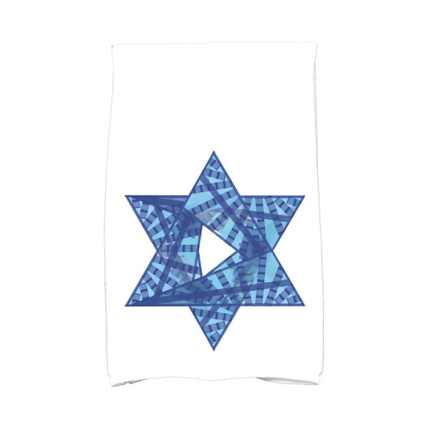 16 x 25-inch Star Mosaic Holiday Geometric Print Kitchen Towel