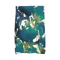 16 x 25-inch Abstract Floral Floral Print Kitchen Towel