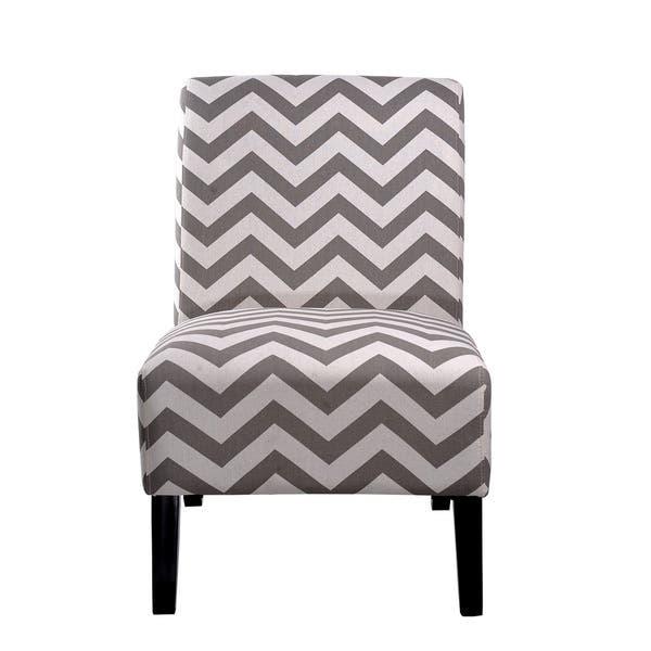 Terrific Shop Nathaniel Home Katherine Grey Chevron Accent Slipper Theyellowbook Wood Chair Design Ideas Theyellowbookinfo