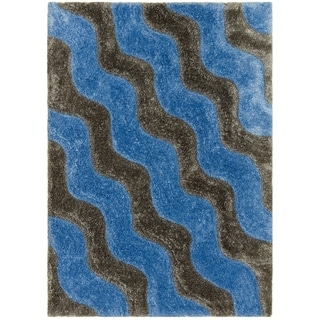 LYKE Home Jumbo Thick  Ice Shag Area Rug (8' x 11') - 7'7 x 10'5
