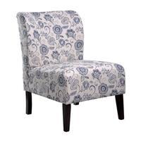 Porch & Den Bay View Clement Blue Flora Accent Slipper Chair