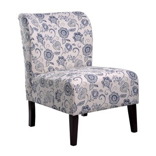 Porch & Den Bay View Clement Blue Flora Accent Slipper Chair