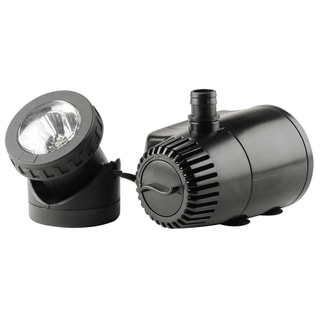 Pond Boss PF185ASL 130 - 185 GPH Lo Water Shut Off Fountain Pump W/LED Light