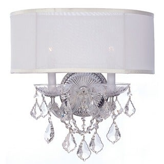 Crystorama Brentwood Collection 2-light Polished Chrome Wall Sconce