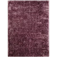 LYKE Home Jumbo Thick Purple Shag Area Rug - 7'7 x 10'5