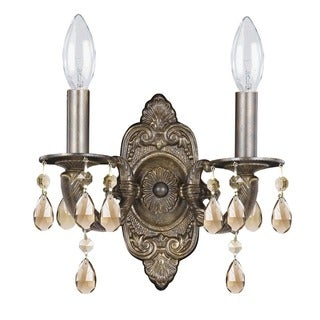 Crystorama Paris Market Collection 2-light Venetian Bronze Wall Sconce