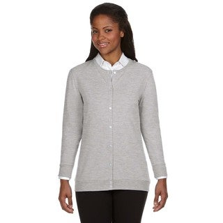 Perfect Fit Women's Grey Heather Ribbon Cardigan