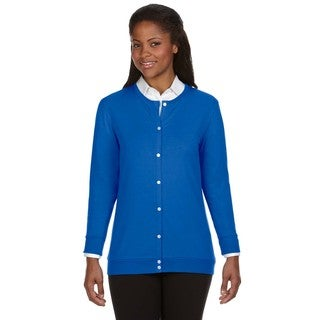 Perfect Fit Women's Blue Ribbon Cardigan