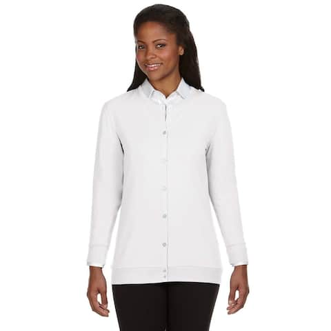 Perfect Fit Women's White Ribbon Cardigan