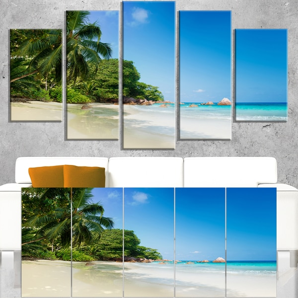 Beautiful Praslin Island Seychelles - Large Seascape Art Canvas Print