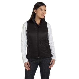 Essential Women's Black Nylon Polyfill Vest