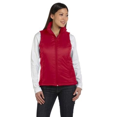 Essential Women's Red Polyfill Vest