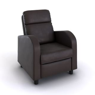Nathaniel Home Anabelle Brown Faux Leather Recliner