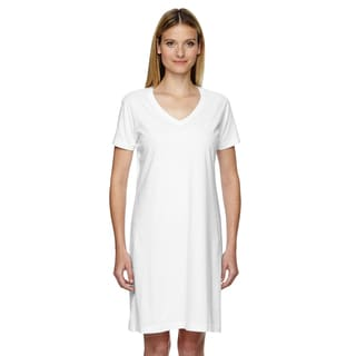 Fine Jersey Women's Crossover V-neck Coverup White