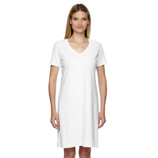 Fine Jersey Women's Crossover V-neck Coverup White|https://ak1.ostkcdn.com/images/products/12305790/P19140644.jpg?impolicy=medium