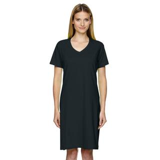 Women's Black Fine Jersey Cotton Crossover V-neck Coverup|https://ak1.ostkcdn.com/images/products/12305795/P19140640.jpg?impolicy=medium
