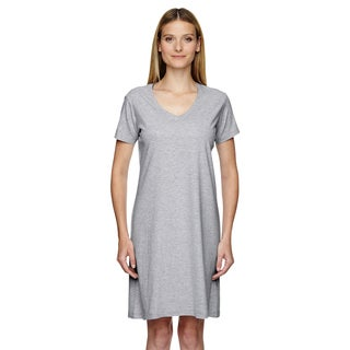 Women's Heather Fine Jersey Crossover V-neck Coverup