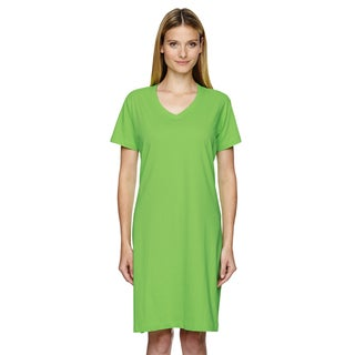 Women's Key Lime Jersey Crossover V-neck Coverup