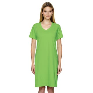 Women's Key Lime Jersey Crossover V-neck Coverup|https://ak1.ostkcdn.com/images/products/12305799/P19140643.jpg?impolicy=medium
