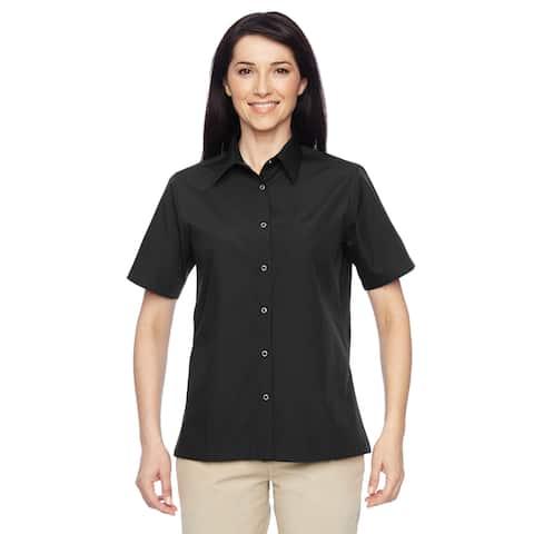Advantage Women's Snap Closure Short-Sleeve Black Shirt