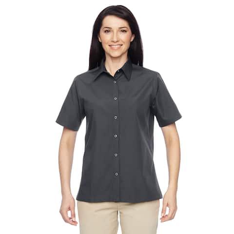 Advantage Women's Snap Closure Short-Sleeve Dark Charcoal Shirt