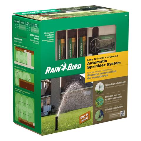 Rain Bird 32ETI Underground Irrigation Automatic Sprinkler System Kit