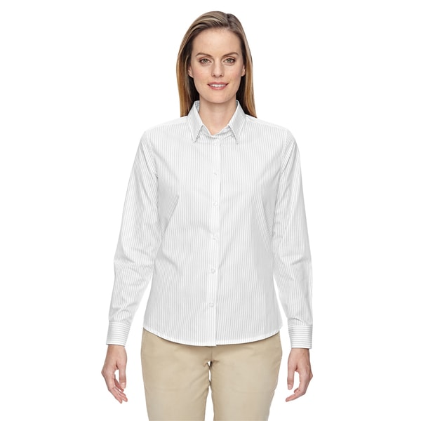 Align women 39 s wrinkle resistant cotton blend vertical for How do wrinkle free shirts work