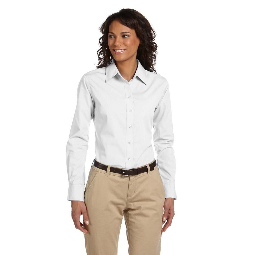 Womens Essential Poplin Dress White Shirt