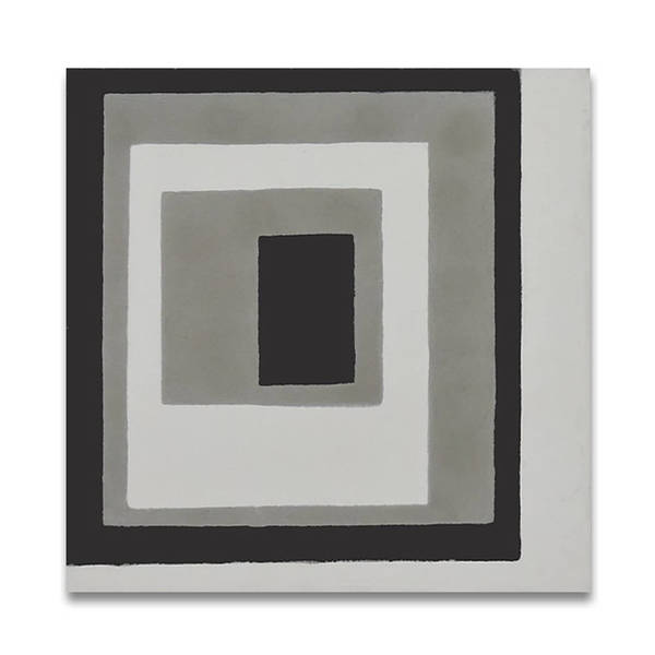 Rayan in Warm Grey and Black Handmade 8x8-in Moroccan Tile (Pack 12)