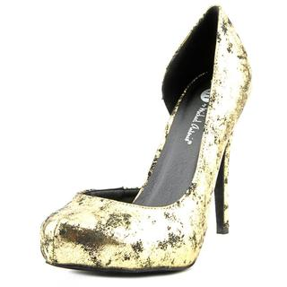 Michael Antonio Women's Latanya Gold Fabric Dress Shoes