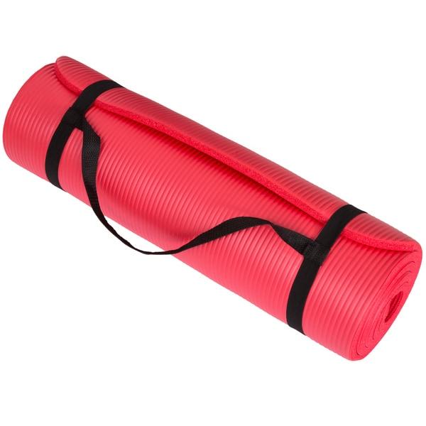 Wakeman Fitness Extra Thick Yoga Exercise Mat