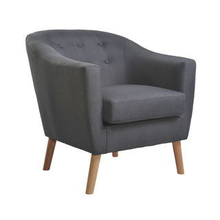 Nathaniel Home Mid Century Jason Grey Club Chair